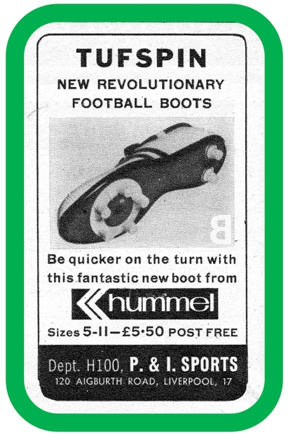 Hummel Tufspin football boots - back catalogue - stuff from the 70s that you need today