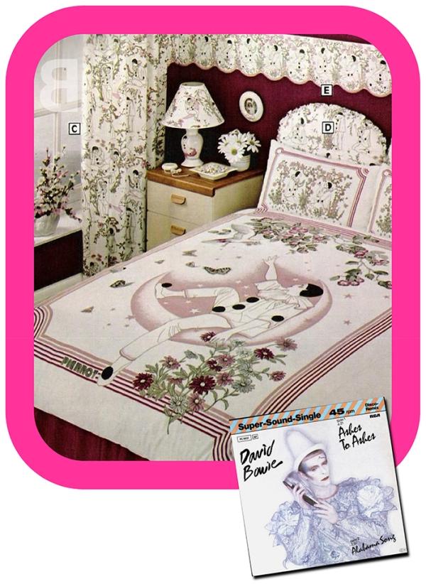 David Bowie soft furnishings - endosement 1980s nostalgia