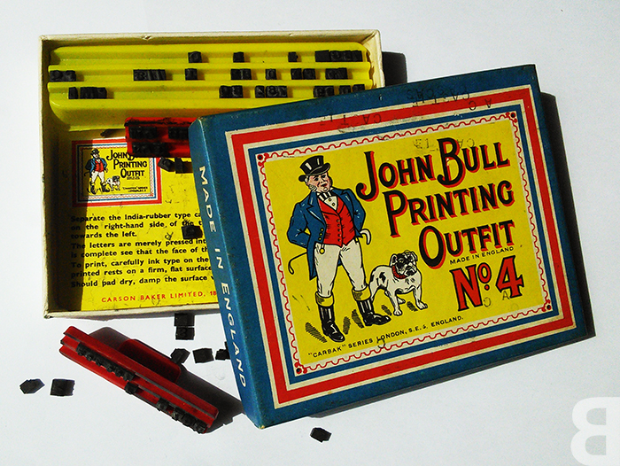 john bull printing outfit - back catalogue cool stuff from the 70s
