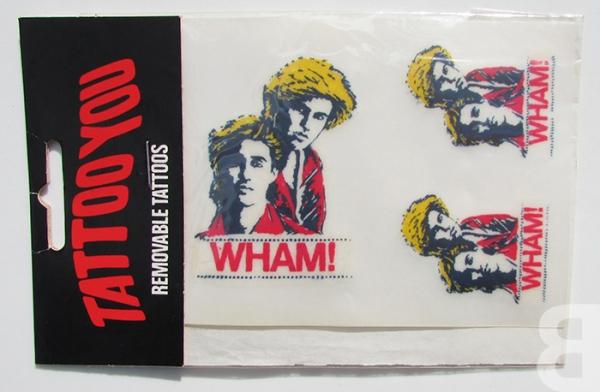 Wham removable tattoos - George Michael - backcatalogue.blog nostalgia 80s