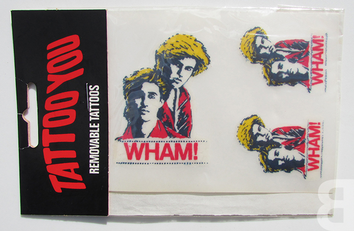 Wham removable tattoos - George Michael - backcatalogue.blog nostalgia 80s