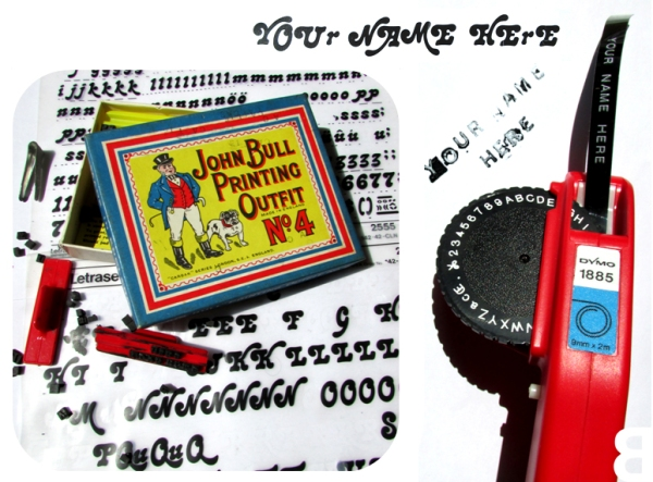 Letraset John Bull Printing Outfit Dymo Tape
