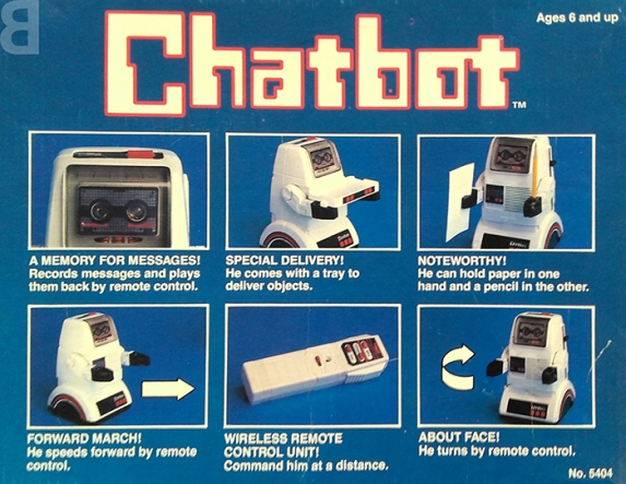 chatbot box - backcatalogue comedy nostalgia 1980s