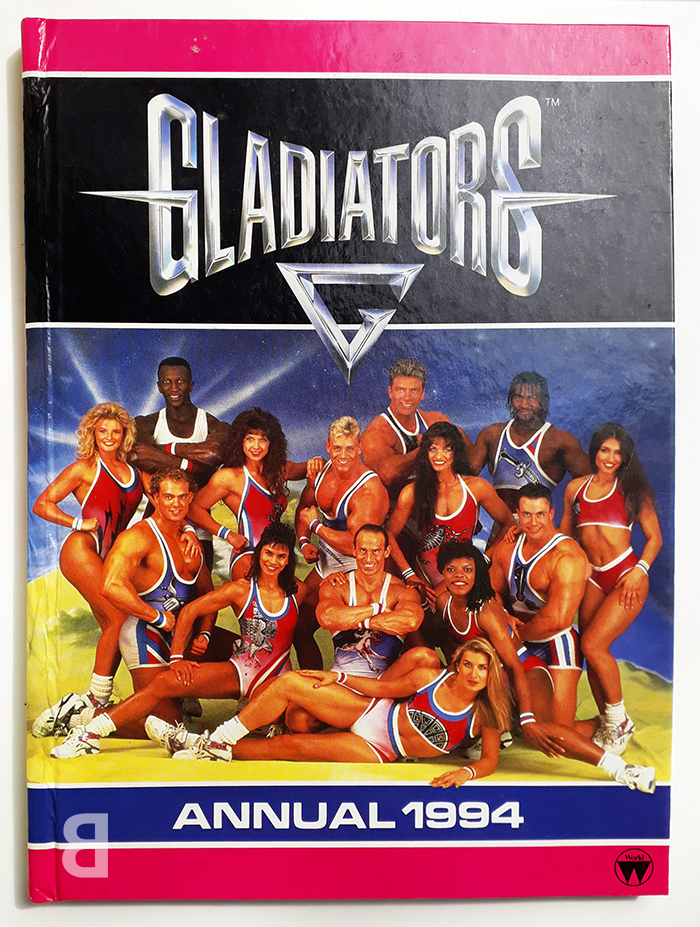 gladiators memorabilia - annual 1994 - back catalogue stuff you need from the 1990s nostalgia comedy